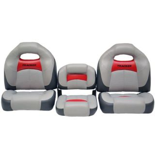 Tracker Marine T160863 Gray Charcoal Red Boat Bench Seating Seats Set of 3