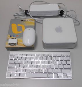 Apple Mac Mini A1176 1 83GHz Core 2 Duo 1g 80g Combo Office Bluetooth KBD Mouse