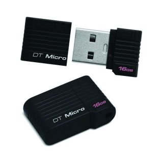 Kingston 16GB Micro USB Flash Drive DTMCK 16GB DataTraveler Black Compact