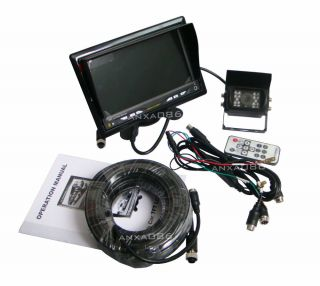 "Car Rear View Kit Reversing System 7"" LCD Monitor LED CCD Backup Camera 7004"
