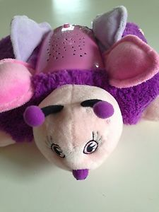 Pillow Pets Dream Lites Pink Purple Butterfly Light Up Plush Toy as Seen on TV