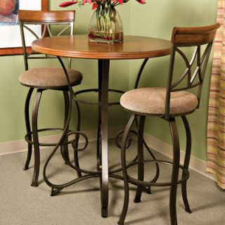 Cafe Hamilton Pub Table in Matte Pewter and Bronze Furniture