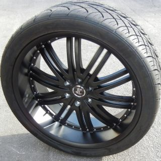 "24"" 2CRAVE 11 Wheels Nitto NT420S Tires 300C Dodge Magnum Charger Satin Black"