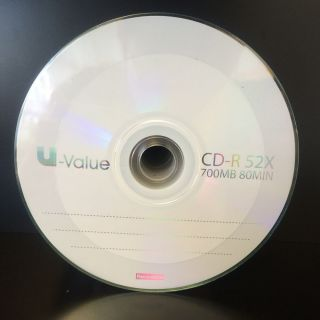 100 Count 52x Blank CD R CDR Recordable Disc Media 700MB