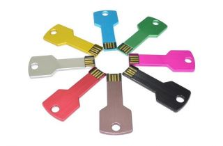 New 8 Color USB2 0 Metal Key Flash Memory U Disk Pen Drive 4GB 8GB 16GB 32GB Key