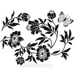 GPS 069 Flower Butterfly Graphic Art Wall Decal Sticker BRINGBRINGSHOP