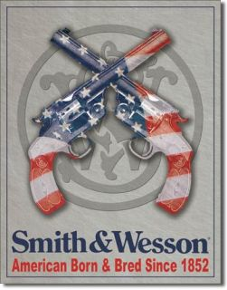 Vintage Replica Tin Metal Sign Smith Wesson s w USA Pistol Revolver Gun 1465