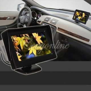 "4 3"" TFT LCD Car Rearview Backup Color Monitor Screen DVD VCR Reverse Camera Kit"