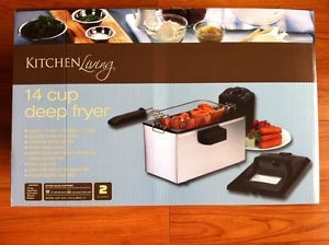 Kitchen Living 14 Cup Deep Fryer Electric Cookware Appliance New