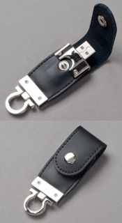 Black Leather Key Fob USB Flash Memory Drive Stick Pen Thumb 32GB