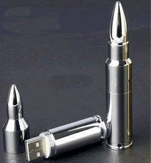 Bullet Sharp Silver USB 2 0 Flash Memory Drives 4GB 8GB 16GB 32GB