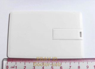 Blank White Credit Card USB Drive Memory Flash Stick 2 0 128MB 10pcs by Bulk
