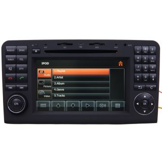 Car GPS Navigation 2 DIN TFT TV DVD Player Radio for 06 11 Mercedes Benz ML450