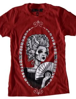 Akumu Ink Tattoo Horror Emo Goth Punk Marie Antoinette Portrait Red T Shirt
