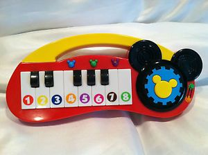 Disney Playhouse Clubhouse Mickey Mouse Piano Keyboard Music Instrument