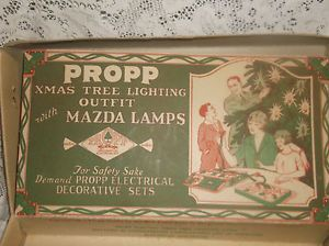 Vintage Propp Mazda Lamps Christmas Tree Lighting Lamps 1927