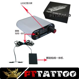 Details about Mini LED Digital Tattoo Power Supply Kit Silver white