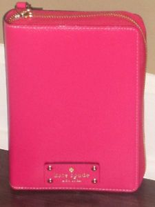 Kate Spade Wellesley Zip Around Personal Organizer Planner 2014 Deep Pink