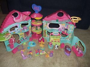 Biggest Littlest Pet Shop House Lot Pets Food Accessories Playset