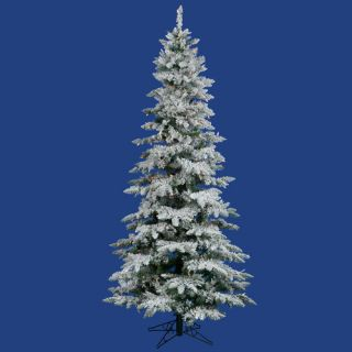 Vickerman Flocked Utica Fir 9 White Artificial Christmas Tree with 440 LED Multicolored Lights with Stand