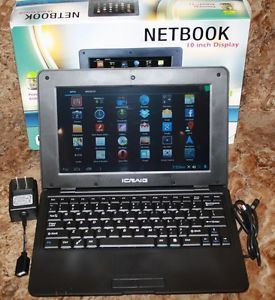 New Icraig Netbook CLP285 w 10 inch Display w Cables Android Jelly Bean 4 1