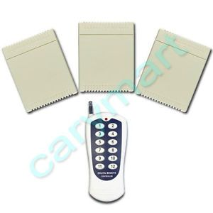 12 Channels RF Universal Ceiling Fan Remote Control Kit 3 Receivers 500M 10A AC