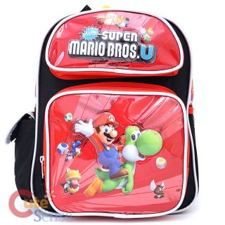 "Nintendo Super Mario U School Backpack 12"" Small Medium Bag Yoshi Riding"