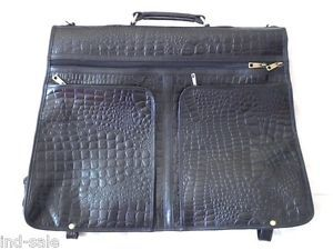 Black Crocodile Leather Bag