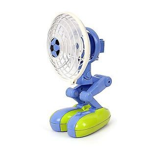Portable USB Desk Fan Mini Cooler Cooling Desk Small Laptop Notebook Robot Blue