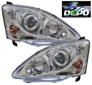 02 05 Honda Civic Hatchback SI EP3 JDM Type Chrome Projectors Head Lights Depo