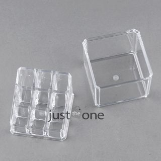 Beautiful Crystal Clear Acrylic Jewelry Box Storage Cosmetic Makeup Cases Stand