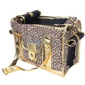 Pet Care Pet Dog Cat Carrier Bag Tote Handbag PU Oxford Leopard High Quality New