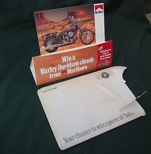 Harley Davidson Heritage Softail Marlboro Competition Point of Sale Display Card