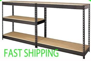 X Large Heavy Duty Steel Metal Garage Work Bench Table 5 Tier Shelving Rack Unit