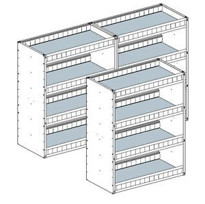 Aluminum Van Shelving for Box Trucks Cargo Trailers etc Universal