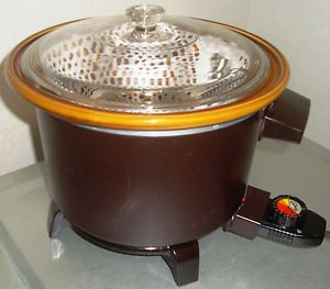 Dazey Rival Multifunction Crock Pot Slow Cooker Steamer Deep Fryer