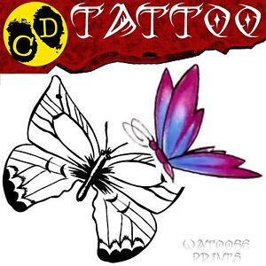 Butterfly Tattoo Designs CD Flash Printable Free Tatt