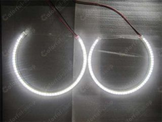 4 x BMW E46 Nonprojectors 60SMD LED Angel Eyes Halo Rings Super Bright Kit White