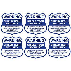 Front Adhesive Window Decal Warning Sticker for Alarm System Security 6 PK DEC1