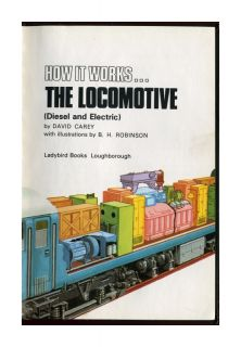 Ladybird The Locomotive How It Works Series 654 Matt Original Price 60p 1983