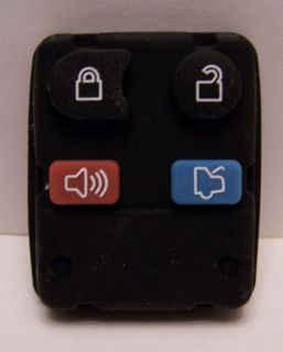 Brand New Ford Lincoln Mercury 4 Button Remote Keyless Entry Rubber Keypad