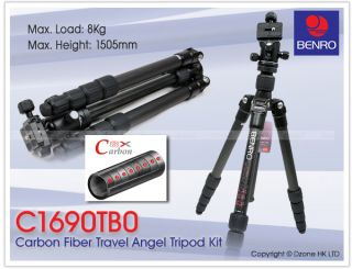 Benro C1690T Carbon Fiber Travel Angel Tripod with B0 Ball Head Kit Camera T031