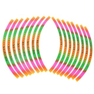 New 10'' 12''Car Motorcycle Wheel Rim Stripe Tape Stickers Decal Colorful