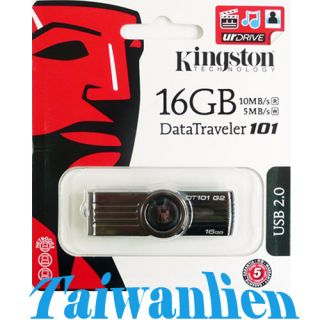 Kingston 16GB USB Flash Pen Drive DataTraveler DT 101 00740617151725
