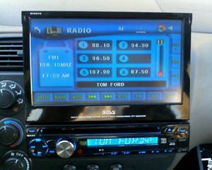 "Boss BV9970 Single DIN in Dash Car DVD CD  USB Player 7"" Touch Screen Monitor"