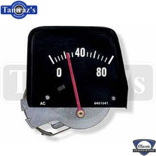 68 74 Nova Center Console Black Face Oil Pressure Gauge OE Mechanical Style