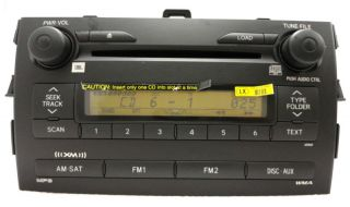 Toyota Corolla Satellite XM Radio Stereo 6 Disc Changer CD Player A51867