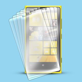 6 Pcs HD Clear LCD Screen Protector Guard Film for Nokia Lumia 920 at T