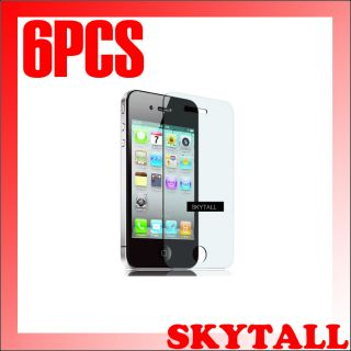 6pcs Bulletproof Clear LCD Screen Protector Cover for Apple iPhone4 4S 4G 4