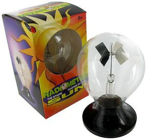 2 Tedco Radiometer Solar Sun Powered by Sun Energy Science Light Bulb Sphere